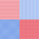 Blue and red simple stripes abstract seamless vector pattern, ge Royalty Free Stock Images