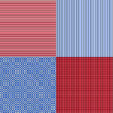 Blue and red simple stripes abstract seamless vector pattern, ge Royalty Free Stock Photo