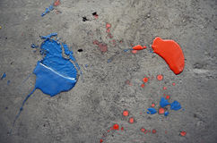 Blue and red splash Royalty Free Stock Photos