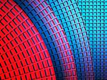 Blue red squares abstract background. 3d render illustration Stock Photo