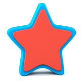 Blue red star Royalty Free Stock Photo