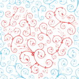 Blue and red swirls shaping a heart Stock Photos