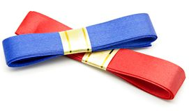 Blue and red ties Royalty Free Stock Images