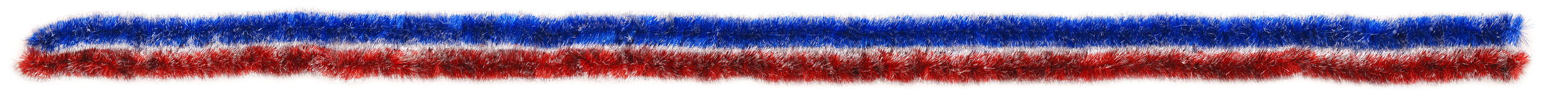 Blue and red tinsel sample real size Stock Photography