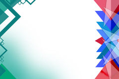 Blue and red triangle overlap right side,  abstract background Royalty Free Stock Images