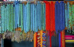 Blue Red Chinese Ceramic Beads Panjuan Flea Market  Beijing Chin Stock Photos
