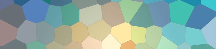Blue, red and vanilla bright Big Hexagon in banner shape background illustration. Blue, red and vanilla bright Big Hexagon in banner shape background royalty free illustration