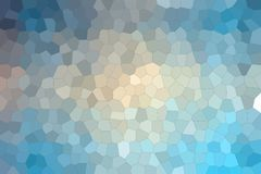 Blue, red and vanilla colorful Little hexagon background illustration. Blue, red and vanilla colorful Little hexagon background illustration royalty free illustration