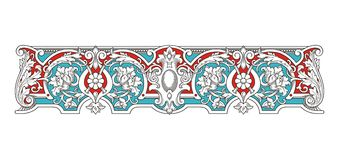Blue and Red Vintage Frame vector 1005 vector illustration