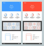 Blue and red website design template Stock Photo