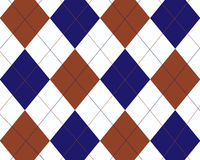 Blue, red and white argyle stock illustration