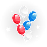 Blue,red and white balloons, Vector image. Stock Photos
