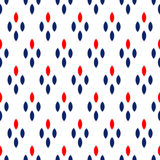 Blue red and white dots simple geometric seamless pattern, vector Stock Images