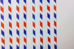 Blue,red,white vertical line on white background. Royalty Free Stock Image
