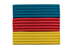 Blue red yellow flag of Transylvania royalty free stock photography