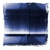 Blue reflecting metallic surface. Technological texture and background Royalty Free Stock Images
