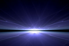 Blue reflection royalty free stock photos