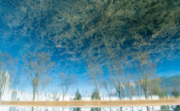 Blue Reflection scenery Stock Photography