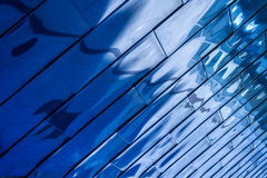 Blue Reflective Background Stock Photography