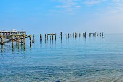 Free Blue Reflective Waters At The Old Pier In Swanage Royalty Free Stock Photo - 162121365
