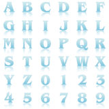Blue reflex alphabet Royalty Free Stock Images