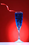 Blue refreshing party drink Stock Images