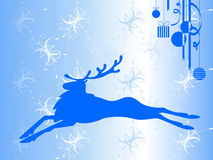 Blue reindeer Stock Photography