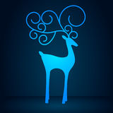 Blue reindeer Stock Photos
