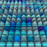 Blue relief in 3d with pyramids aligned Stock Images