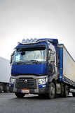 Blue Renault Trucks T Semi, Vertical Detail Stock Photography
