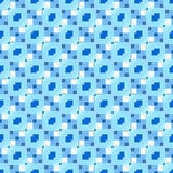 Blue repeating pattern royalty free illustration