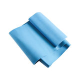 Blue resistance band for weight loss Royalty Free Stock Photo