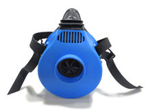 Blue respirator with straps Stock Photography