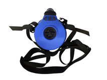 Blue respirator with straps Stock Images