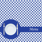 Blue restaurant menu Royalty Free Stock Photo