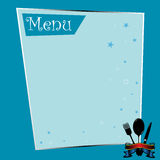Blue restaurant menu Stock Photo