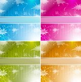 Blue Retro. Background business card Set Vector Stock Image