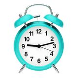 Blue retro alarm clock stock illustration