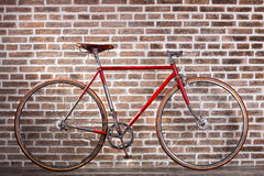 Red retro bicycle Stock Images
