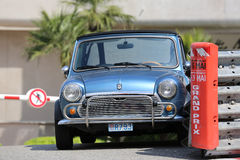Blue Retro Car Austin Mini Cooper Royalty Free Stock Image