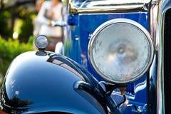 Blue retro car Royalty Free Stock Photo