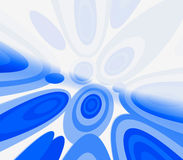 Blue Retro Circles Royalty Free Stock Photo