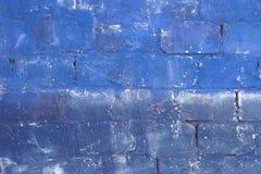 Blue retro colored bricks Royalty Free Stock Image