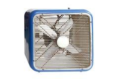 Blue retro electric fan Stock Images