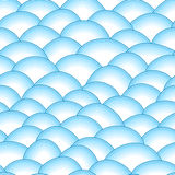Blue retro fish scales vector seamless pattern Stock Photography
