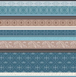 Blue retro flower pattern Royalty Free Stock Images