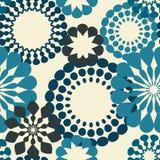 Blue Retro Flowers Royalty Free Stock Image