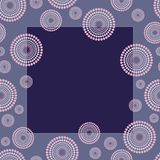 Blue retro frame. Witch circles for your text - vector Royalty Free Stock Photography
