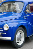 Blue Retro french car Royalty Free Stock Image
