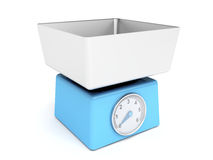 Blue retro kitchen weight scale Royalty Free Stock Image